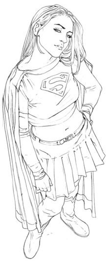 Supergirl Concept Art By Renato Guedes